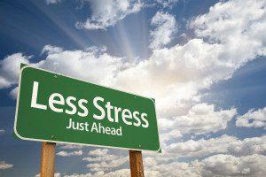 Less stress just ahead