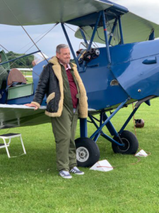 AKA client PK enjoyed a tiger moth flight