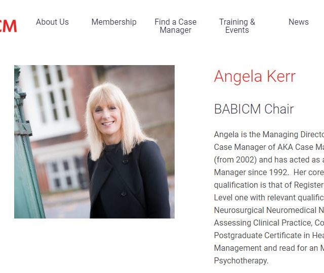 Angela Kerr appointeed BABICM chair for 2 further years